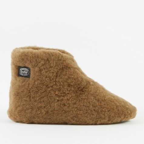 Wool Fleece Tent Shoe - Brown