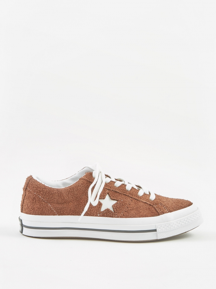 Converse One Star Ox - Chocolate/White (Image 1)