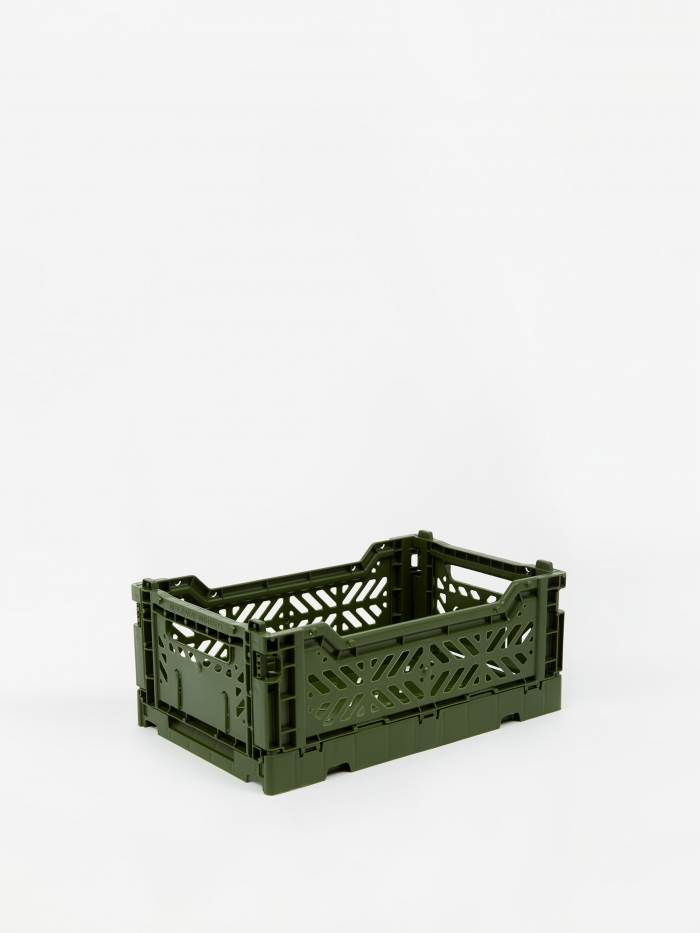 HAY Colour Crate Small - Khaki (Image 1)