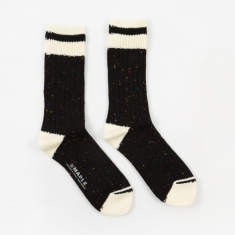 Maple Heritage Sock - Black