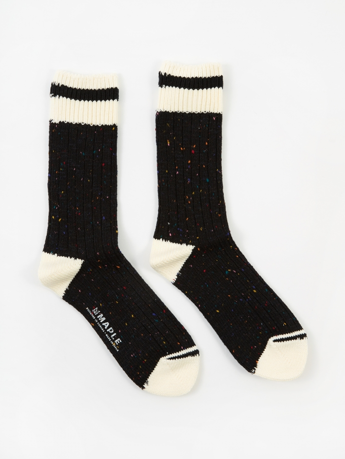 Maple Heritage Sock - Black (Image 1)