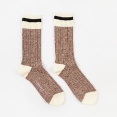 Maple Heritage Sock - Wine