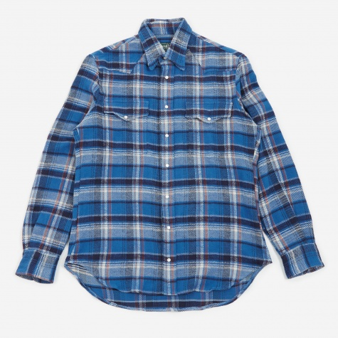 Western Shirt - Blue Flannel