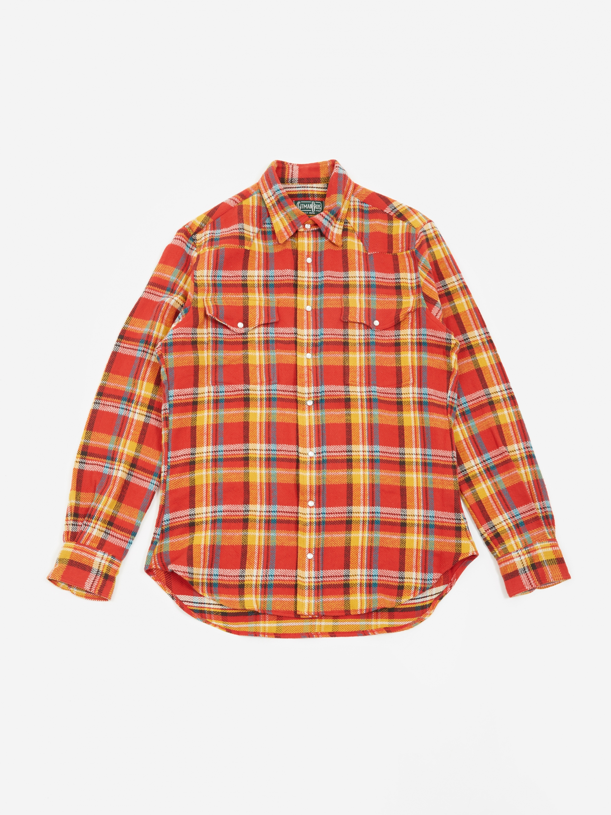 9d5ef66ed07 Gitman Vintage Western Shirt - Red Flannel