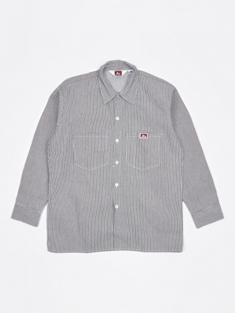 5a96f39a71f Long Sleeve Work Shirt - Hickory Stripe