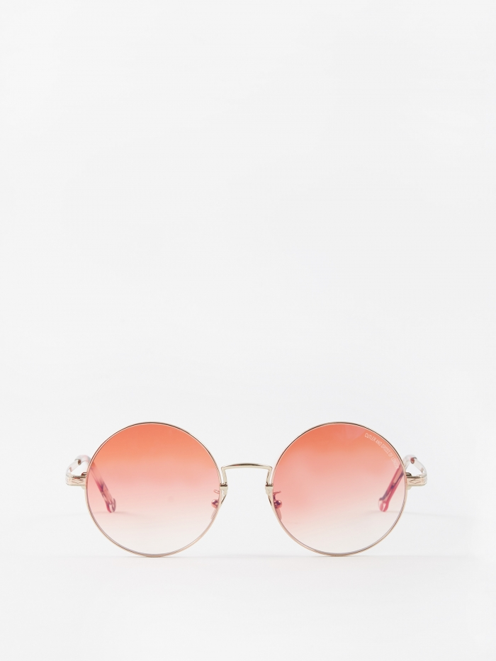Cutler and Gross 1272-03 Sunglasses - Rose Gold/Tropicana (Image 1)