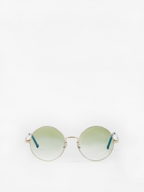 1272-05 Sunglasses - Gold/Evergreen