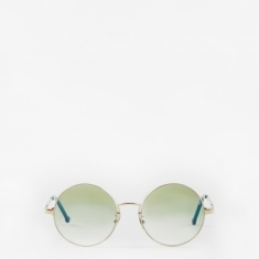 Cutler And Gross 1272-05 Sunglasses - Gold/Evergreen
