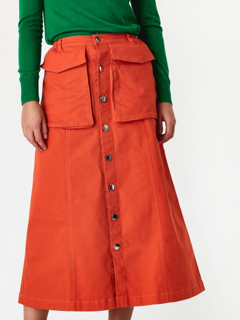 Hector Skirt - Vermillion