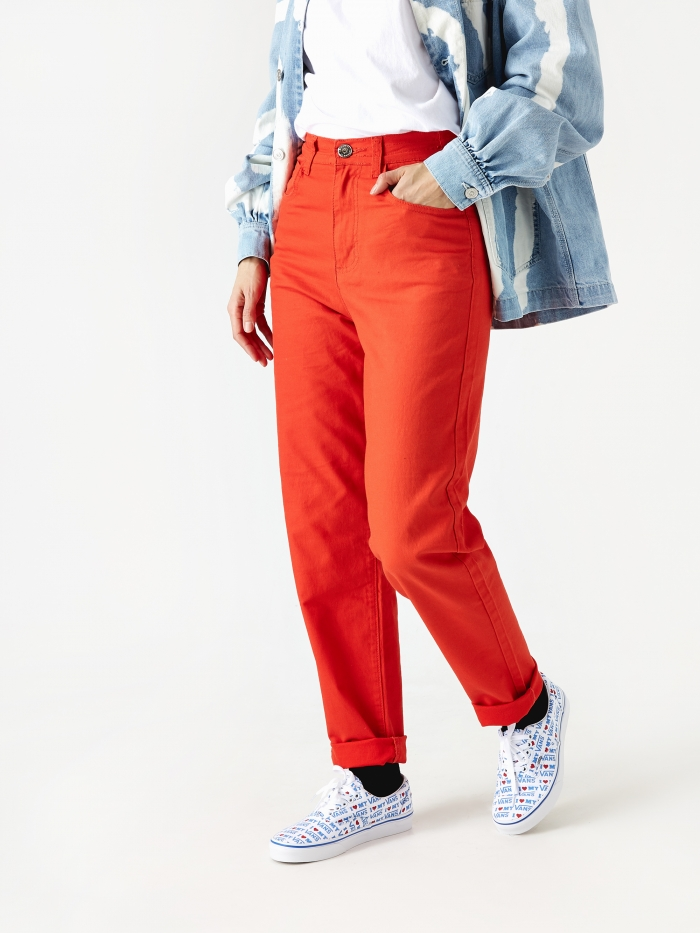 LF Markey Johnny Elasticated Jeans - Vermillion (Image 1)
