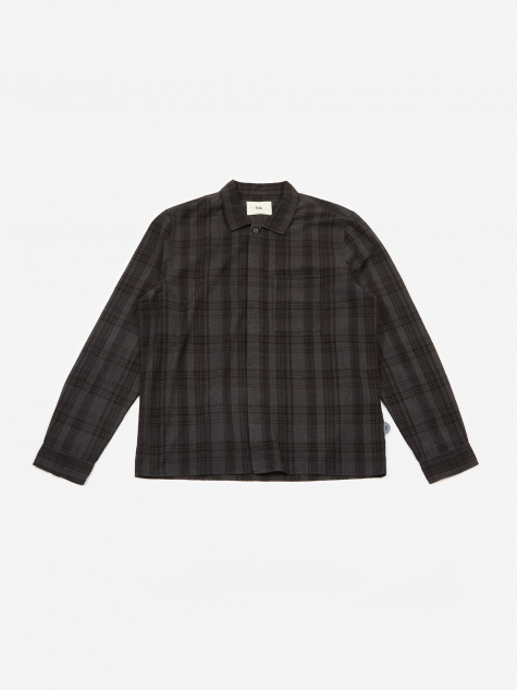 Patch Shirt - Charcoal Multi Check