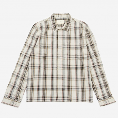 Patch Shirt - Oatmeal/Khaki Multi Check