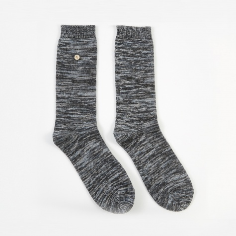 Melange Socks - Blue/Charcoal Melange
