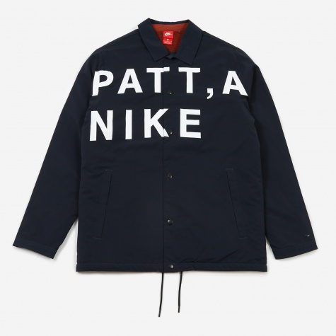 x Patta Coach Jacket - Dark Obsidian/White