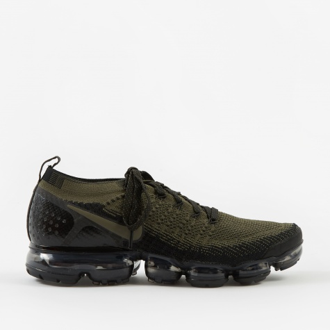 Air Vapormax Flyknit 2 - Cargo Khaki/Black-Total Orange