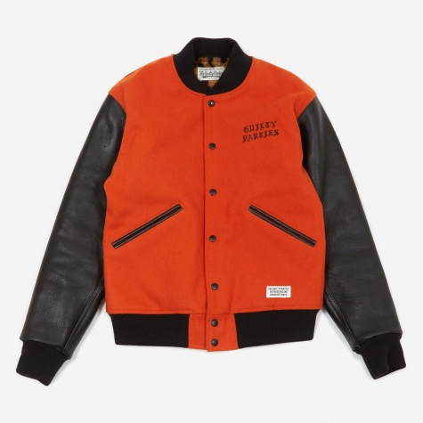 Varsity Jacket - Orange/Black