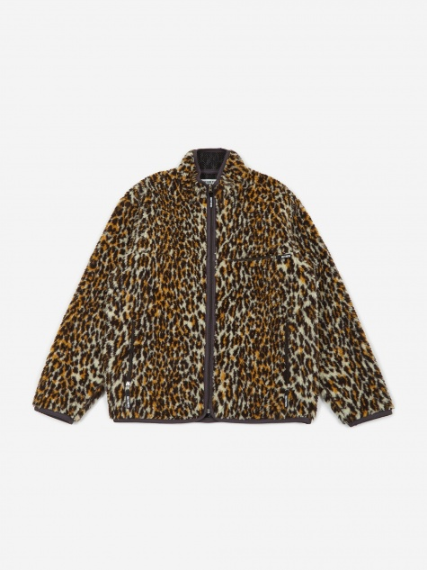 Fleece Jacket - Leopard Boa