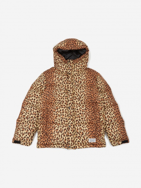 Hooded Down Jacket (Type-1) - Leopard