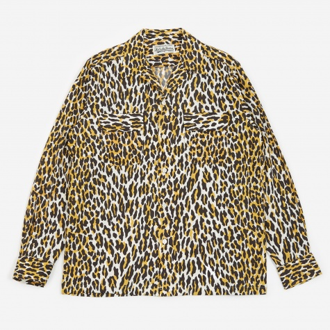 Leopard Open Collar Shirt - Leopard