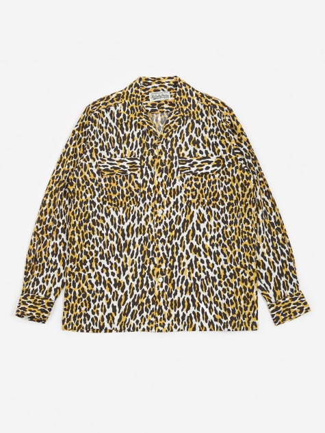 Open Collar Shirt - Leopard