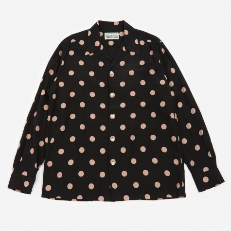 Dots Hawaiian Shirt (Type-1) - Pink