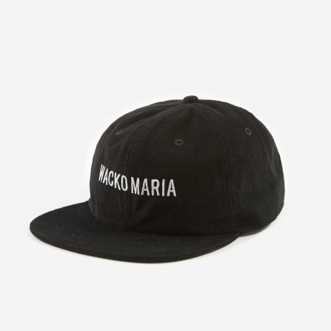 Corduroy 6 Panel Cap (Type-1) - Black