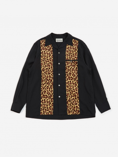 50s Shirt (Type-3) - Black/Leopard
