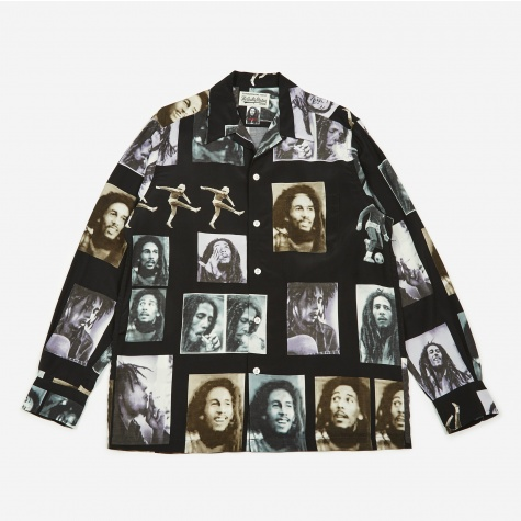 x Bob Marley Hawaiian Shirt - Black