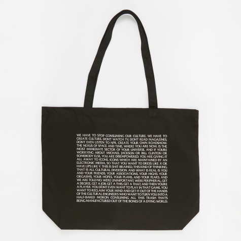 Consumer Culture Tote Bag - Black