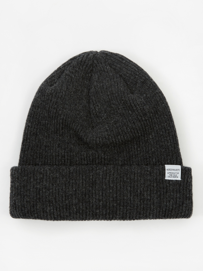 Norse Beanie   Charcoal Melange by Norse Projects