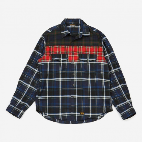 Tartan Mix Work Shirt - Blue