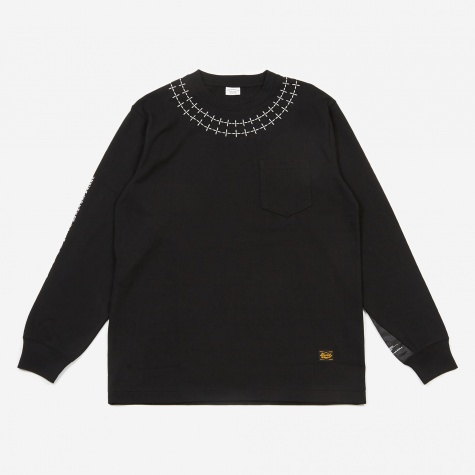 CDE L/S Pocket Top - Black