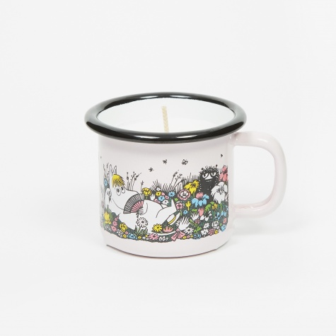 Moomin Shared Moment Enamel Mug With Candle 150ml - Pink
