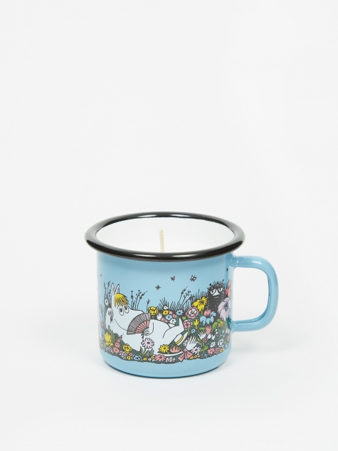 Moomin Shared Moment Enamel Mug With Candle 250ml - Blue