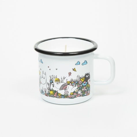 Moomin Shared Moment Enamel Mug With Candle 370ml - White