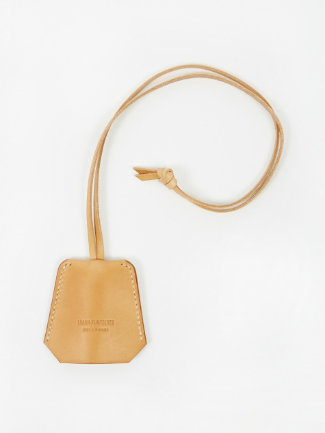 Leather Clochette Key Holder - Natural