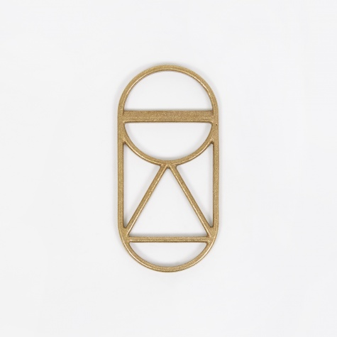 Crest 1 Bottle Opener - Brass