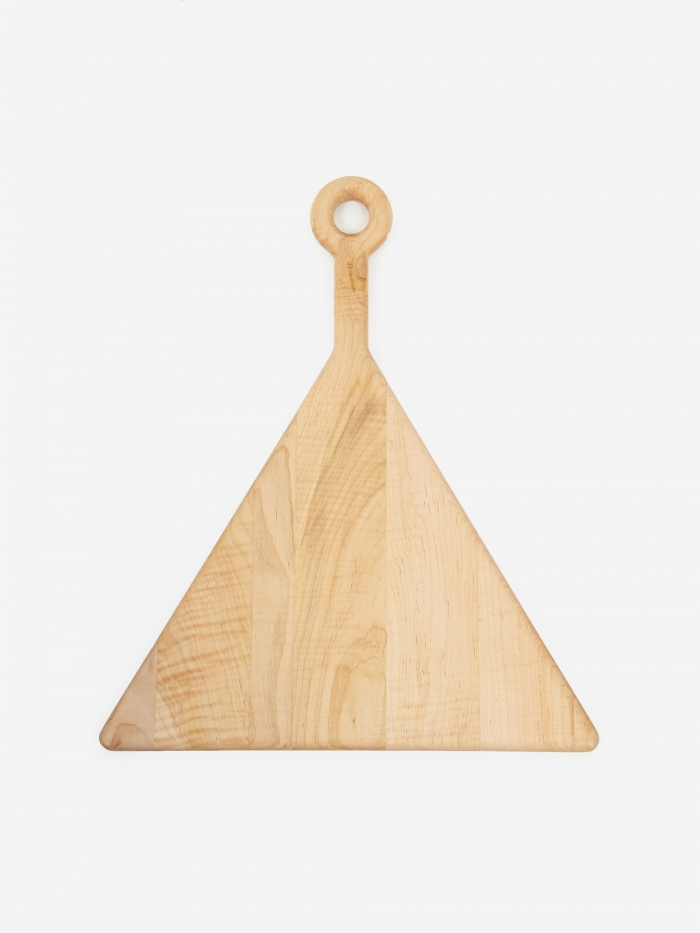 Fort Standard Plank Cutting Board Curly Maple - Triangle (Image 1)