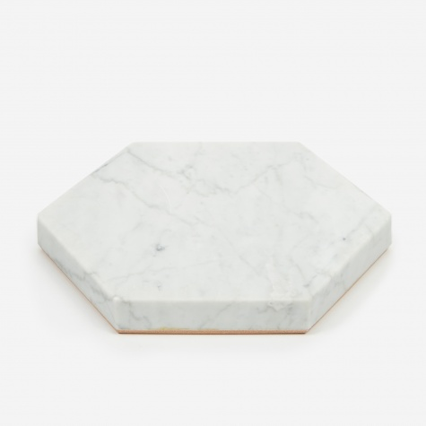 White Stone Trivet - Hexagon