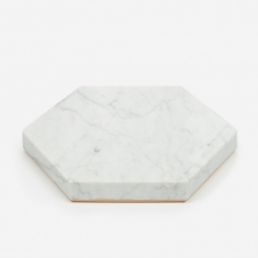 Fort Standard White Stone Trivet - Hexagon