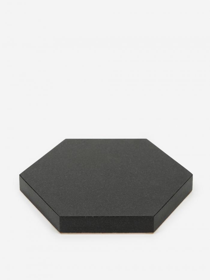 Fort Standard Black Stone Trivet - Hexagon (Image 1)