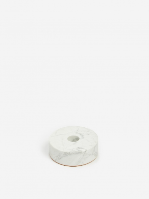 White Stone Candle Holder - Circle