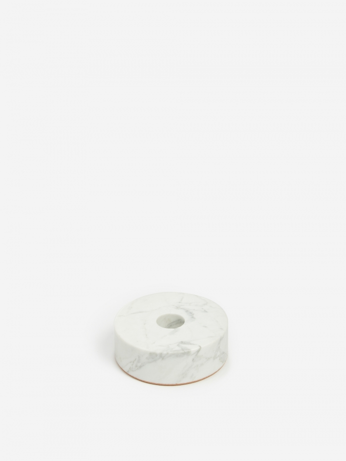 Fort Standard White Stone Candle Holder - Circle (Image 1)