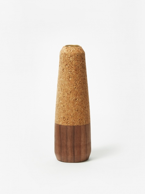 Cork & Wood Candle Stick - Tapered