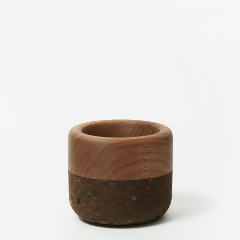 Small Walnut & Charcoal Cork Bowl