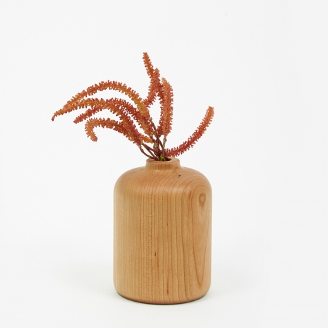 Straight Wood Vase - Walnut