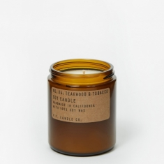P.F. Candle Co. No. 04 Teakwood & Tobacco 7.2oz Soy Candle