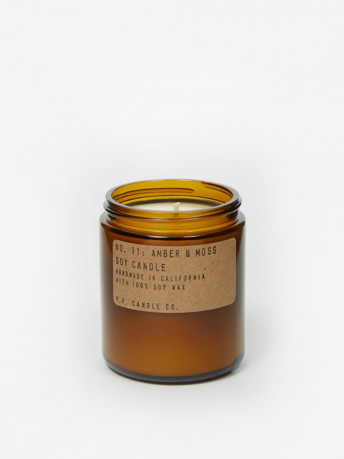 P.F. Candle Co. No. 11 Amber & Moss 7.2oz Soy Candle (Image 1)