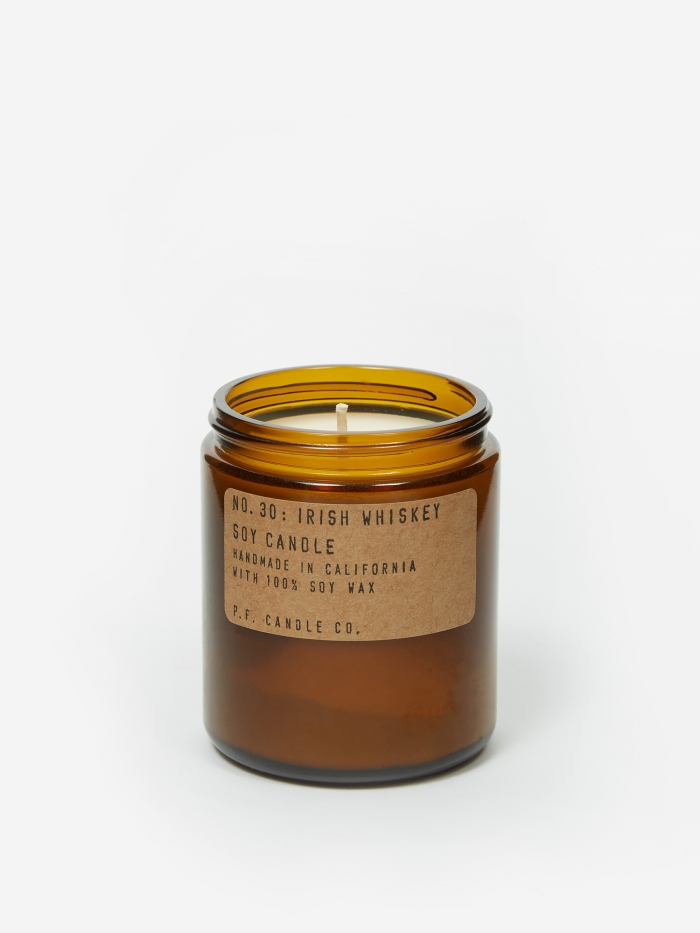 P.F. Candle Co. No. 30 Irish Whiskey 7.2oz Soy Candle (Image 1)