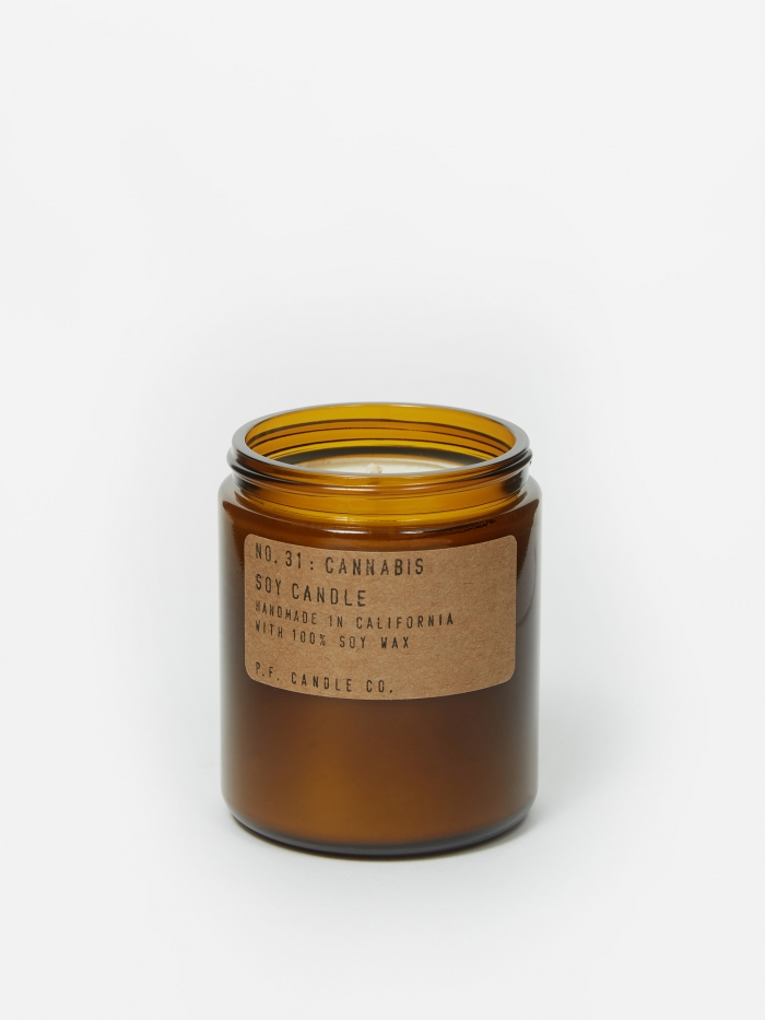 P.F. Candle Co. No. 31 Cannabis 7.2oz Soy Candle (Image 1)